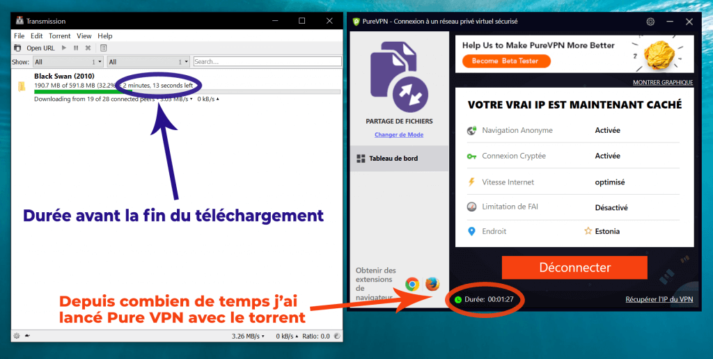 Pure VPN telechargement torrent