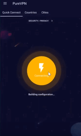 Connexion pure vpn