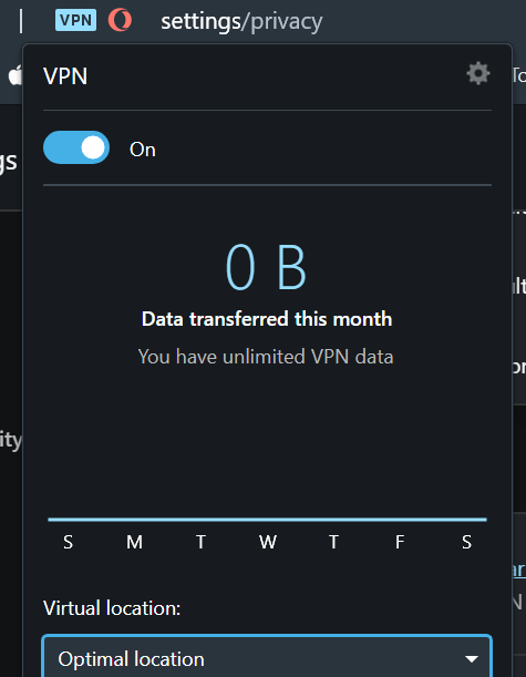 opera vpn intégré navigateur
