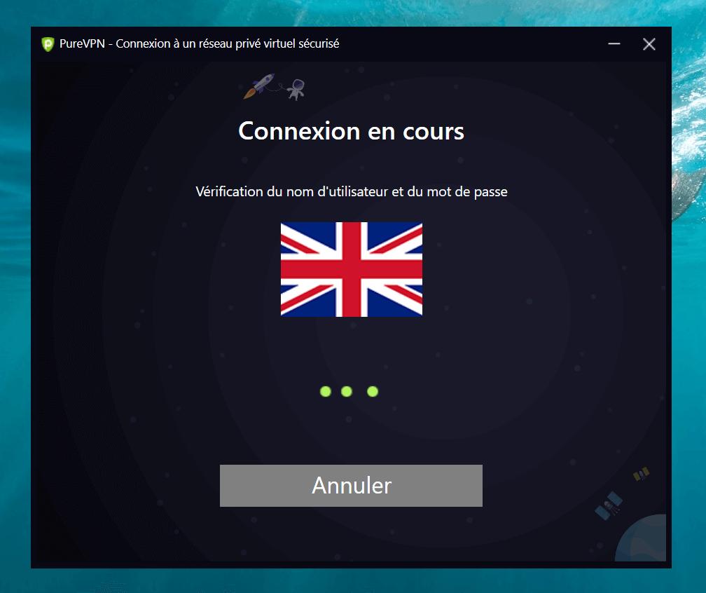 connexion en cours vpn