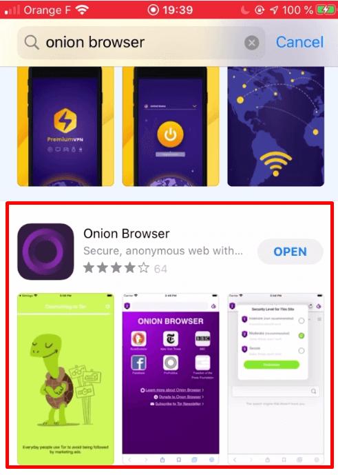 Installer OnionBrowser AppStore