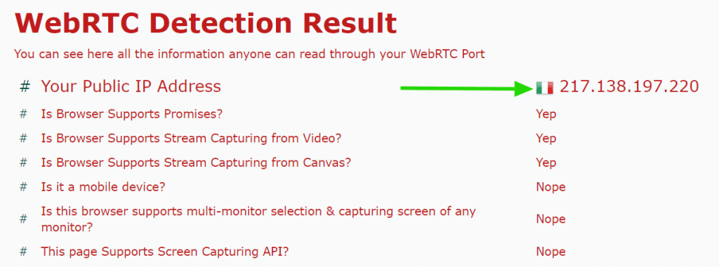 WebRTC faille test NordVPN