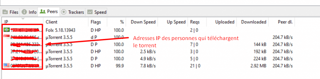 adresse ip torrent