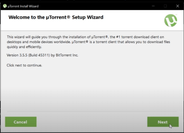 fichier d'installation utorrent