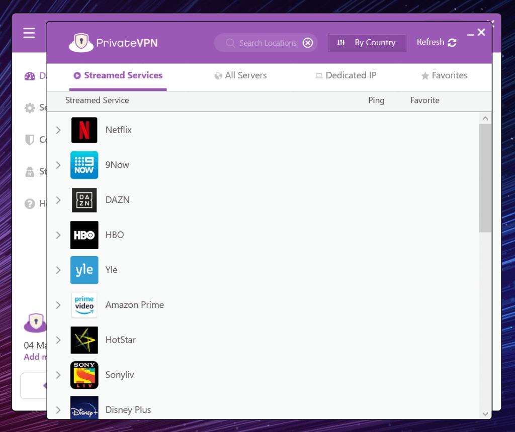 serveurs pour le streaming