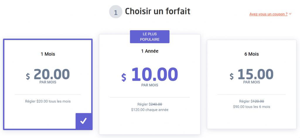 AstrillVPN prix
