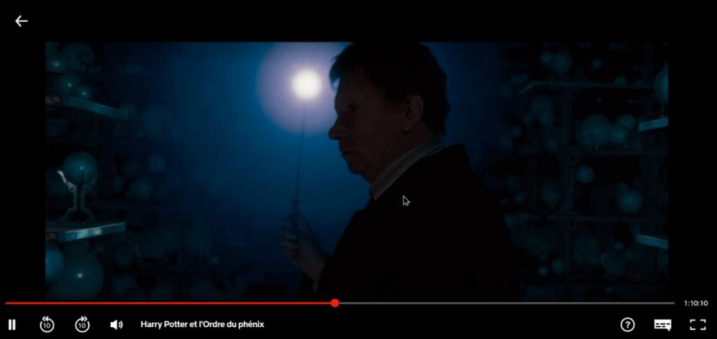 Exemple film Netflix autre région