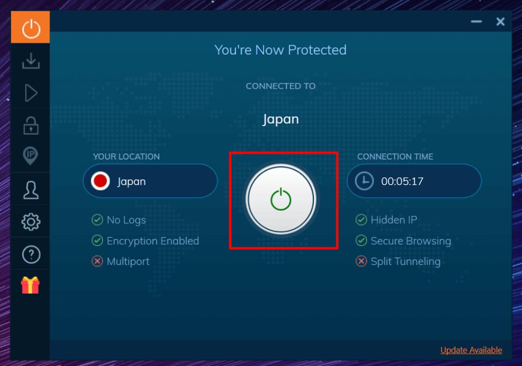 Deconnexion Ivacy vpn