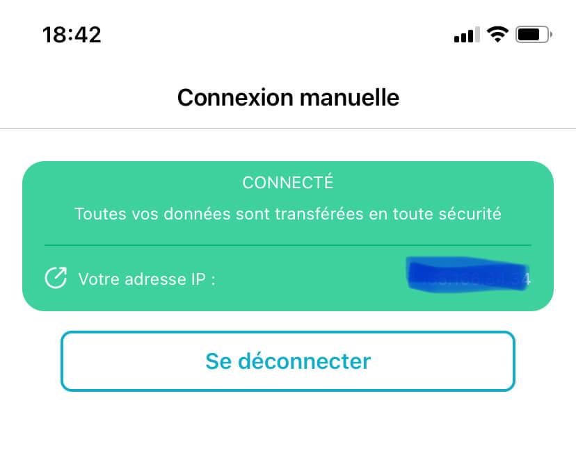 connexion manuelle vpn iphone