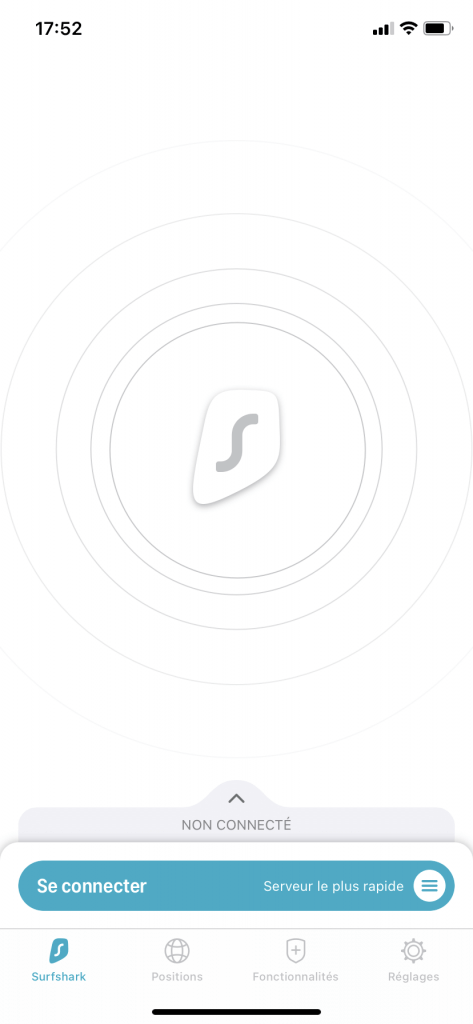 interface surfshark app