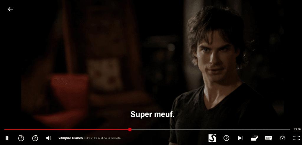 Sous-titres vampire diaries en francais sur netflix