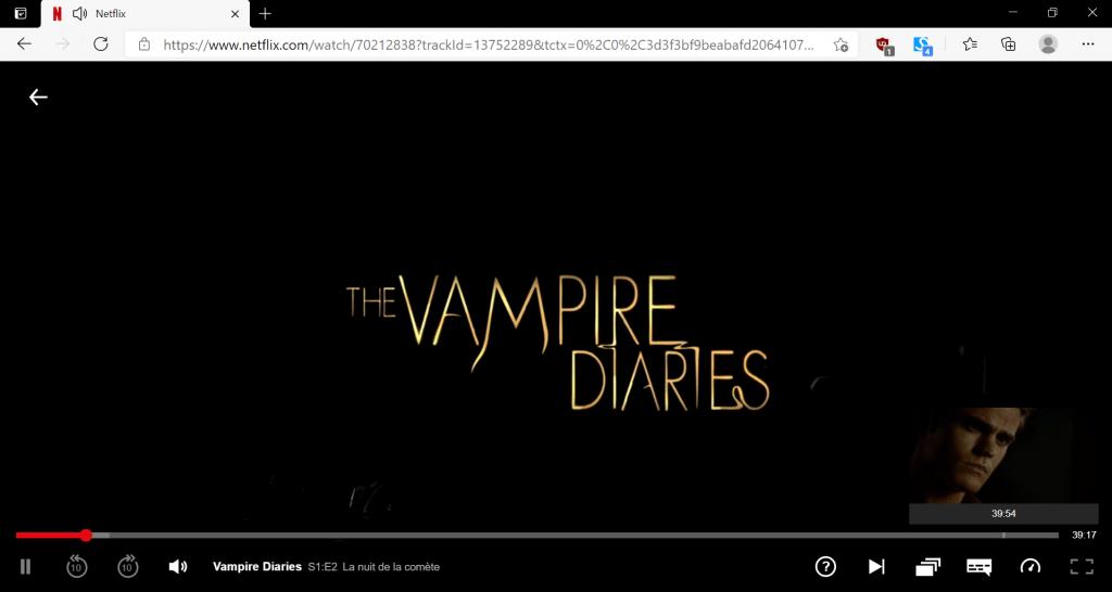 série Vampire Diaries sur netflix