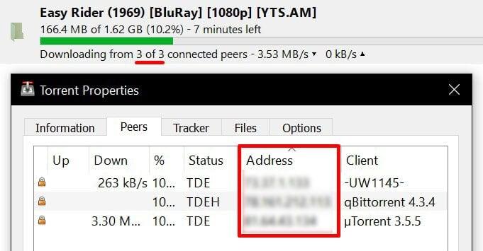 voir adresse ip sur utorrent