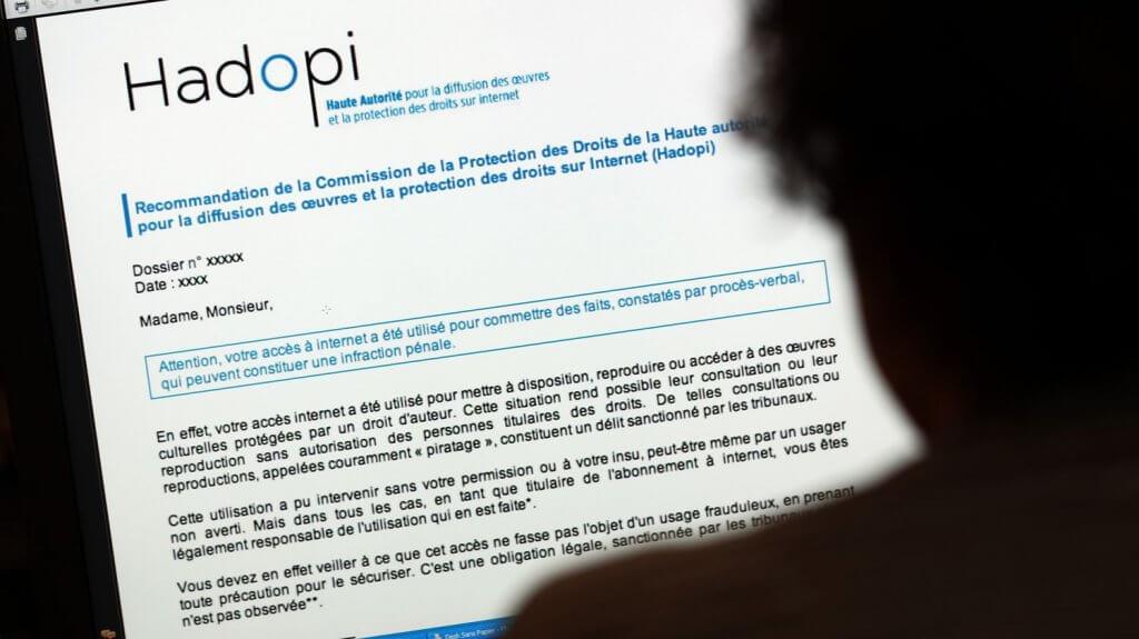 sanction hadopi email
