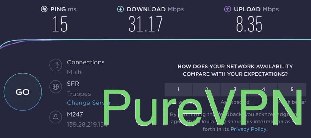 Test de connexion PureVPN BRETAGNE