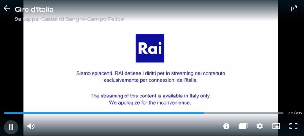 message blocage rai