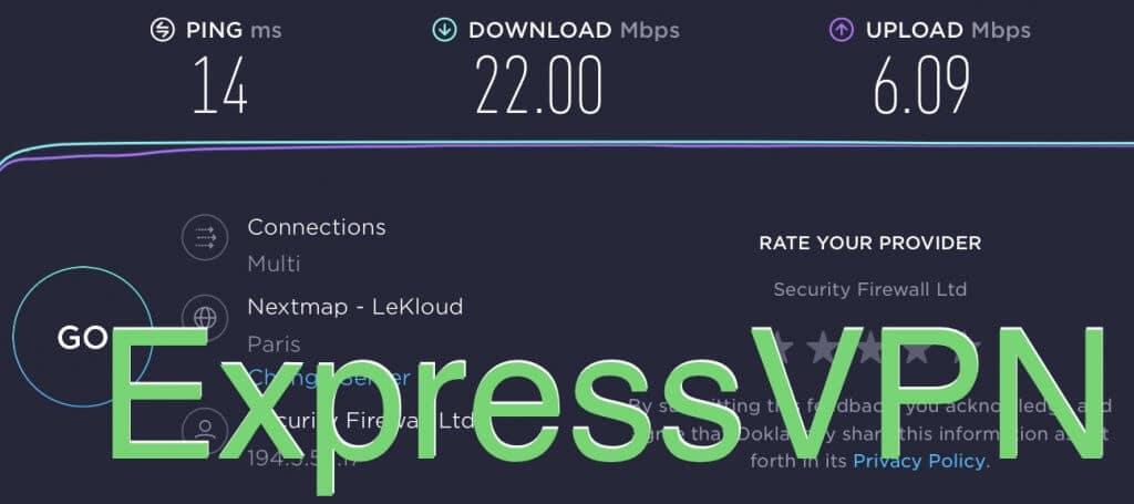 test de connexion expressvpn france