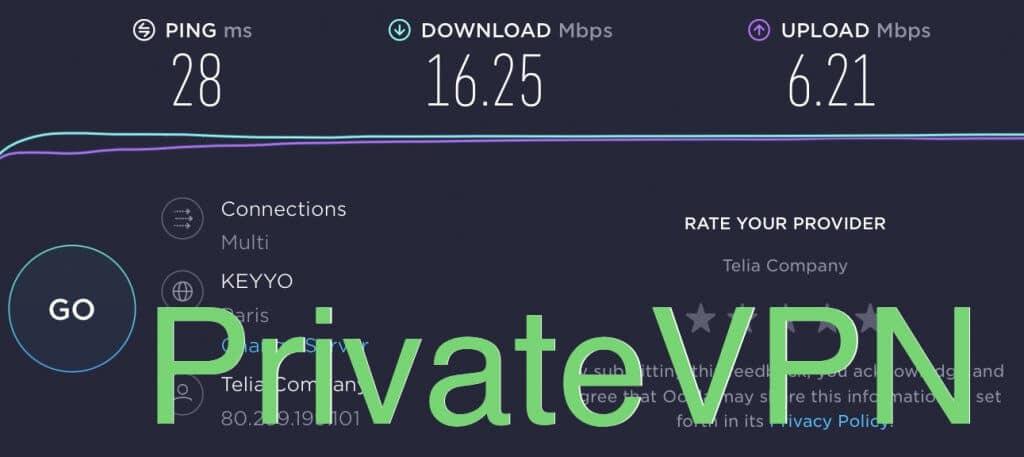 test de connexion privatevpn france