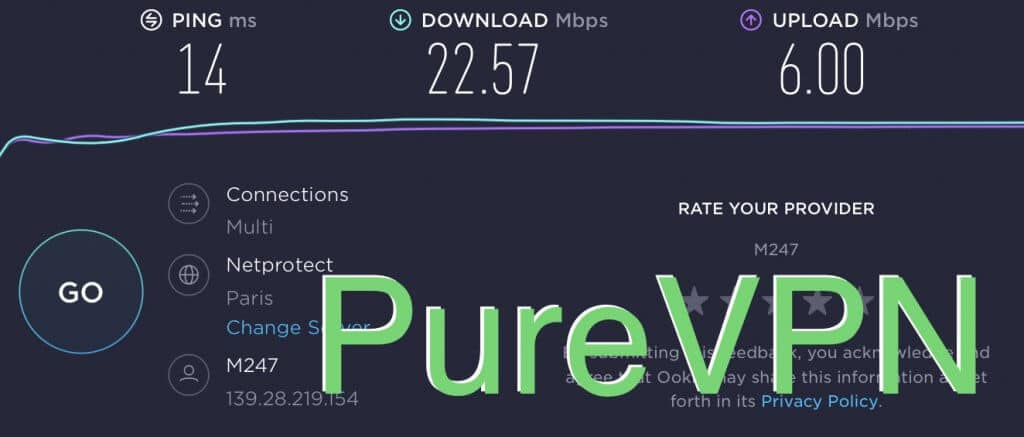 test de connexion purevpn france