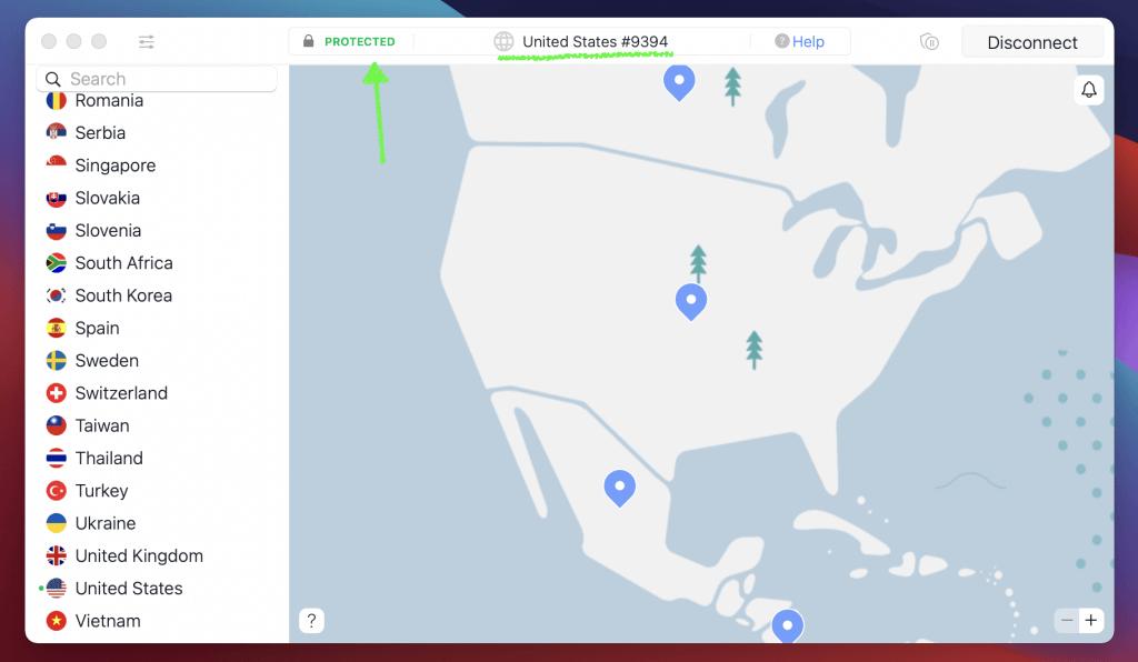 connexion aux états unis pluto